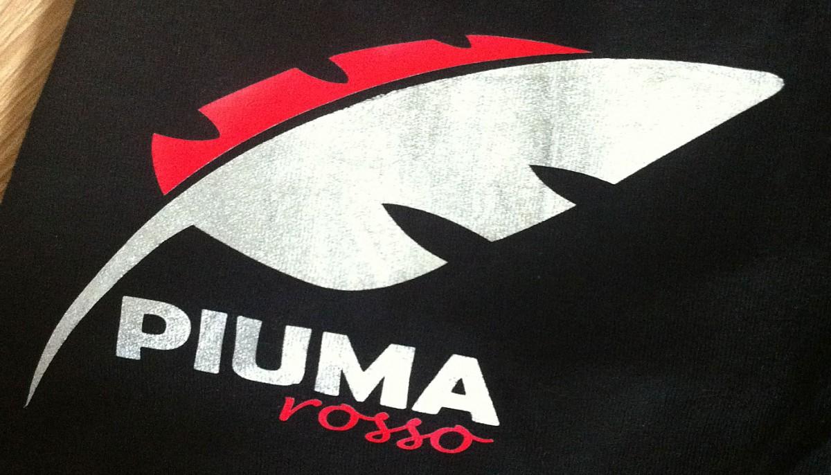 Weinetikette PIUMA rosso in der Umsetzung